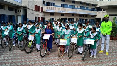 ACA JDA flags off cycle rally to make people aware about the importance of right to vote